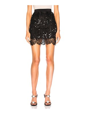 Alessandra Rich Embellished Lace Mini Skirt