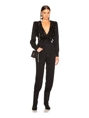 Alessandra Rich Embellished Lace Top Jumpsuit