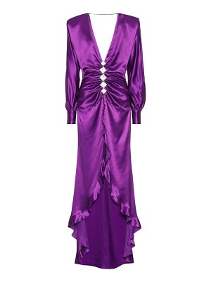 Alessandra Rich Embellished silk gown