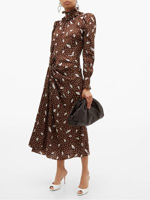 Alessandra Rich high neck printed jacquard silk dress