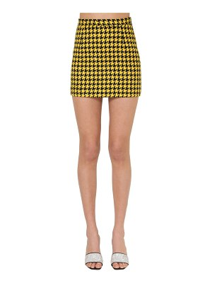 Alessandra Rich Houndstooth high waist mini skirt
