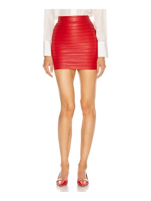 Alessandra Rich leather mini skirt