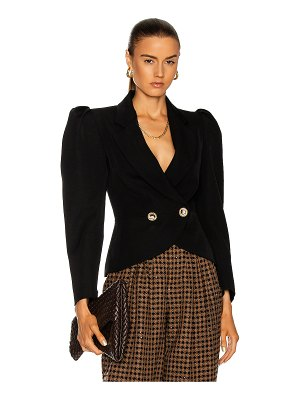 Alessandra Rich light wool double breasted jacket