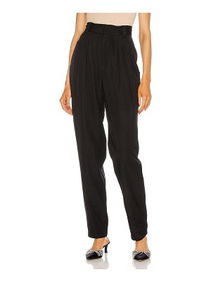Alessandra Rich light wool high waisted trousers