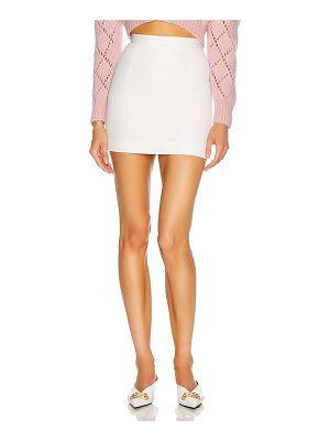 Alessandra Rich light wool mini skirt