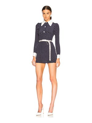 Alessandra Rich Polka Dot Mini Dress