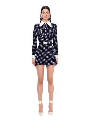 Alessandra Rich Polka dots crepe de chine dress