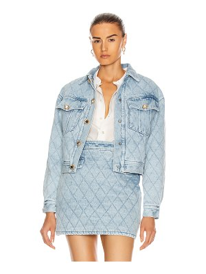 Alessandra Rich quilted denim bomber jacket