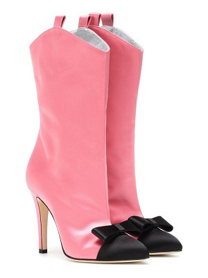 Alessandra Rich satin ankle boots
