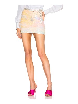 Alessandra Rich Sequin Mini Skirt