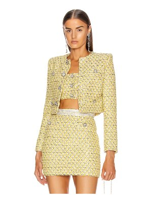 Alessandra Rich sequin tweed crop jacket