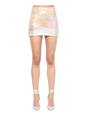 Alessandra Rich Sequined lycra mini skirt