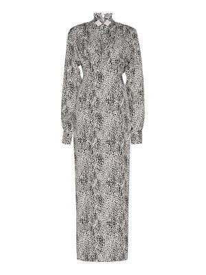 Alessandra Rich silk jacquard leopard dress