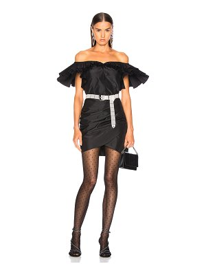 Alessandra Rich Silk Taffeta Butterfly Dress