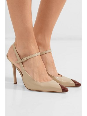 Alessandra Rich two-tone leather mary jane slingback pumps