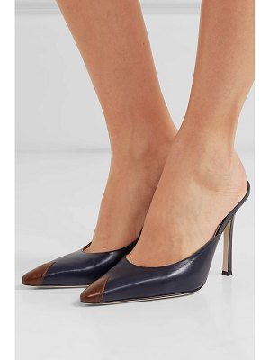 Alessandra Rich two-tone leather mules
