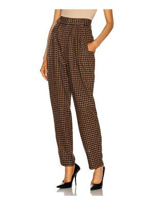 Alessandra Rich vichy sequin tweed high waisted trousers