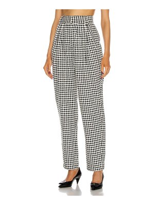 Alessandra Rich vichy wool sequin tweed trousers