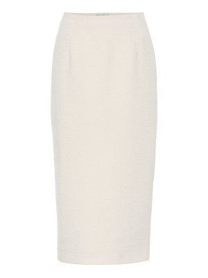Alessandra Rich wool-blend bouclã© pencil skirt