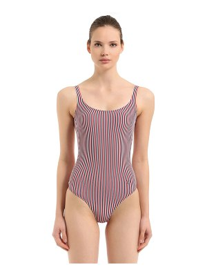 ALESSANDRO DI MARCO Striped low back one piece swimsuit
