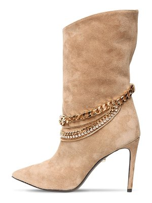 ALEVÌ 90mm embellished suede ankle boots