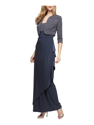 Alex Evenings draped gown with bolero