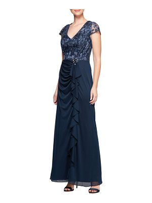 Alex Evenings embroidered bodice gown