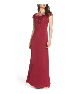 Alex Evenings empire waist ruched gown