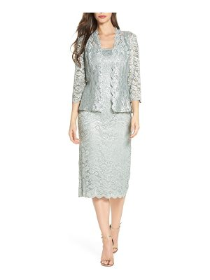 Alex Evenings lace tea length dress with jacket