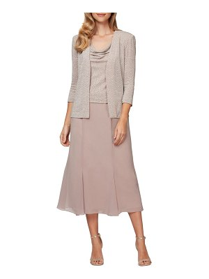 Alex Evenings mock two-piece dress with jacket