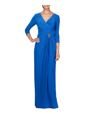 Alex Evenings ruched evening dress