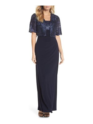 Alex Evenings sequin embellished gown with bolero jacket