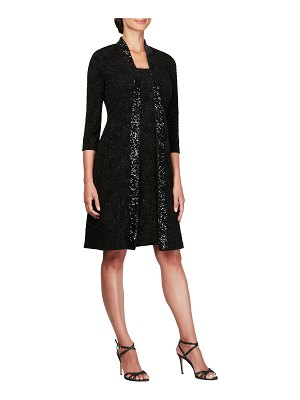 Alex Evenings sequin shift dress with jacket