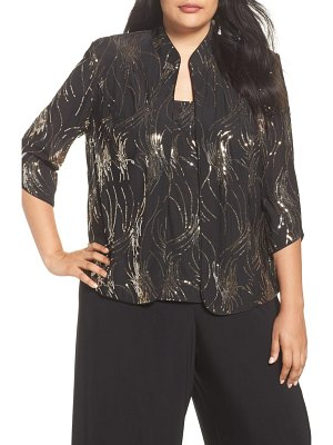 Alex Evenings sequined twinset