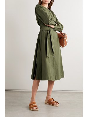 ALEX MILL belted cotton-poplin midi shirt dress