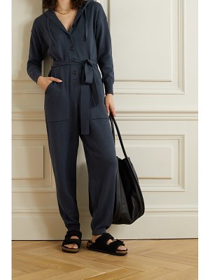 ALEX MILL belted hooded cotton jumpsuit