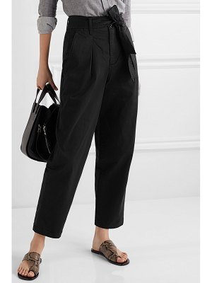 ALEX MILL belted pleated cotton-blend tapered pants