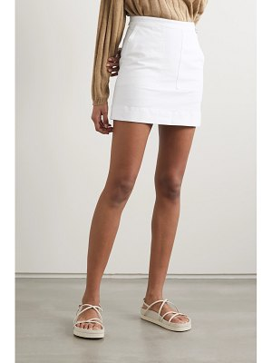 ALEX MILL cotton-blend twill mini skirt
