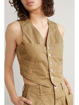 ALEX MILL cropped cotton-blend twill vest
