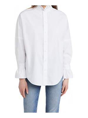 ALEX MILL easy ruffle shirt