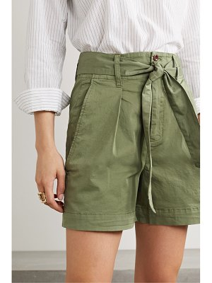 ALEX MILL expedition belted pleated cotton-blend poplin shorts