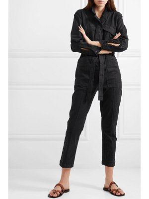 ALEX MILL expedition belted stretch tencel and cotton-blend twill jumpsuit