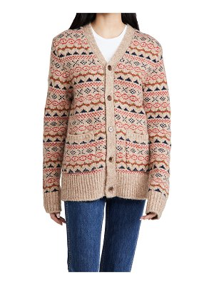 ALEX MILL fair isle cardigan