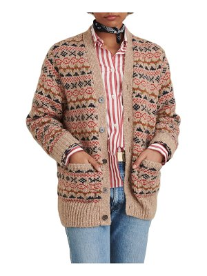 ALEX MILL fair isle v-neck cardigan