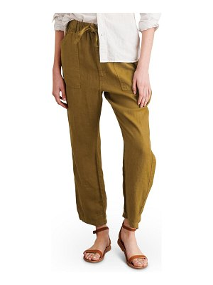 ALEX MILL linen tie waist pants