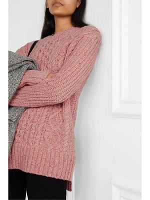 ALEX MILL oversized cable-knit merino wool-blend sweater