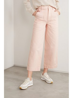 ALEX MILL patrick cropped high-rise wide-leg jeans