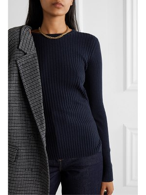 ALEX MILL ribbed wool and cotton-blend sweater