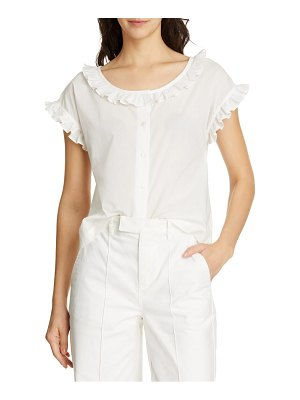 ALEX MILL ruffle blouse