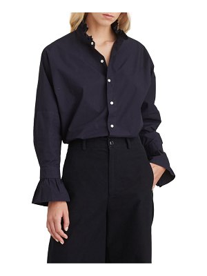 ALEX MILL ruffle button-up shirt